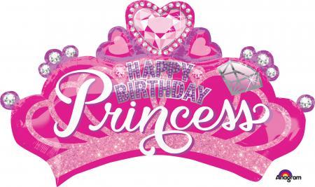 Princess Crown & Gems Balloons P38-0
