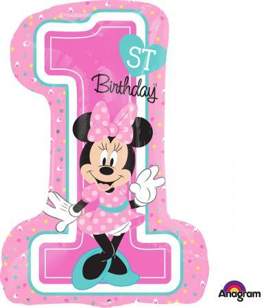Minnie 1st Birthday Girl Balloons P38-0