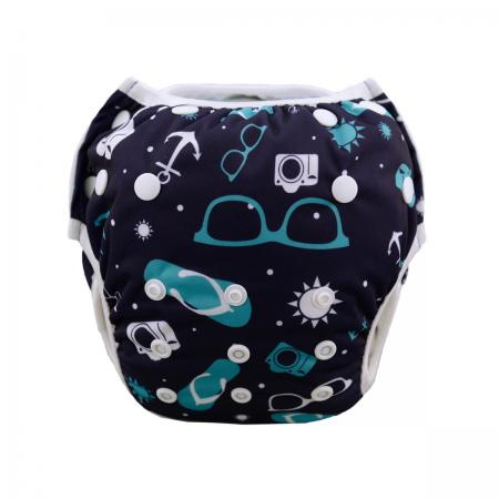 Swim Diaper Cool Unisex Pattern-0