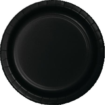 Black Paper Plates - 24PC-0